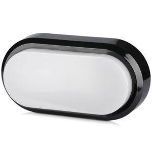 led πλαφονιέρα 8w oβάλ μαύρο