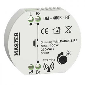 Dimmer κυτίου με τηλεχειρισμό button και rf