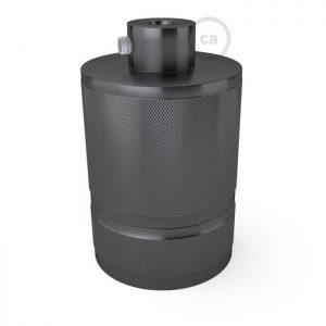 Βιομηχανικό ντουί αλουμινίου Ε27 ανθρακί με στήριγμα