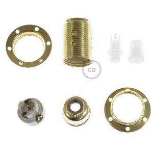 Μεταλλικό Ντουί χρυσό E14