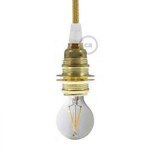 Μεταλλικό Ντουί χρυσό E14, με δύο ροδέλες