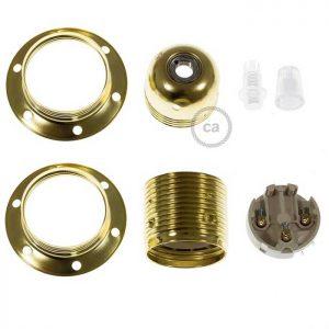 Μεταλλικό Ντουί χρυσό E27 με εξαρτήματα