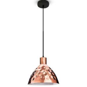 Κρεμαστό φωτιστικό Σιδερένιο με ρόζ χρυσό σώμα 3711