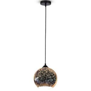 """Φωτιστικό Κρεμαστό 3D Γυαλί """"Πυροτεχνημα"""" Φ200mm"""