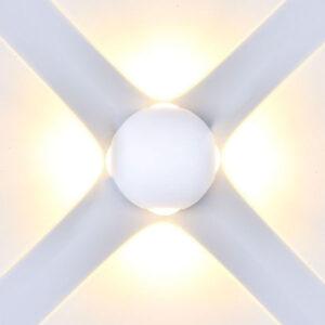 Φωτιστικό τοίχου/απλίκα σφαίρα Led 4W Λευκό Σώμα